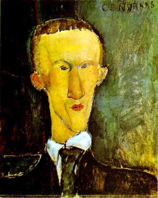 Portrait de Cendrars par Modigliani