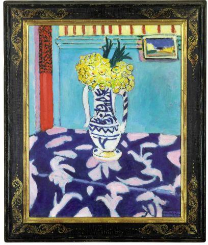 Les coucous, tapis bleu at rose, de Henri Matisse
