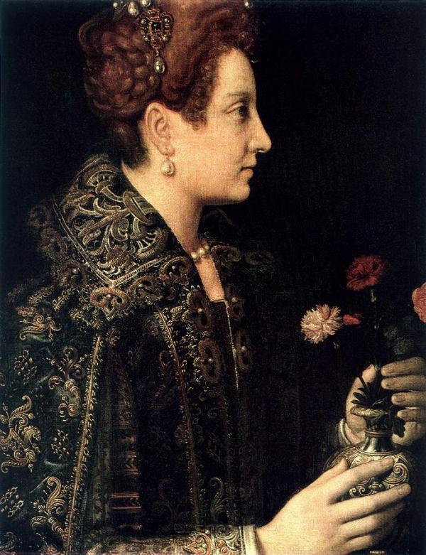 Retrato de perfil de mujer joven, Sofonisba Anguissola (c.1565)