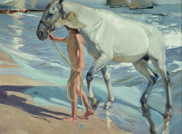 El baño del caballo, de Joaquin Sorolla (1909)