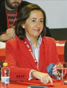 Rosa Aguilar, ex-alcaldesa de Córdoba y nueva Consejera de Obras Públicas de la Junta de Andalucía (Foto:IX Asamblea de IU en nov. 2008 en Madrid)