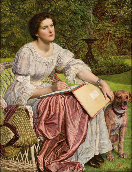 La señorita Gladis M. Holman Hunt (La escuela de la naturaleza), de William Holman Hunt (1894)
