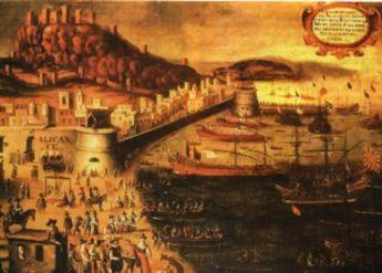 Grabado sobre la expulsión de los moriscos de Alicante (1609)