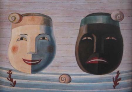 Dos máscaras (1950-1955), de Maruja Mallo