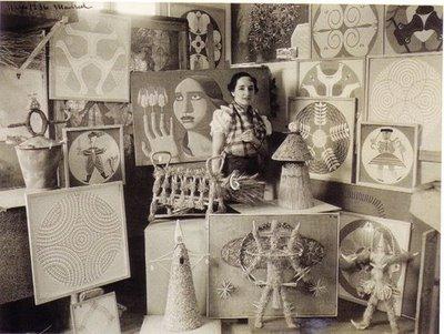 Maruja Mallo en su estudio de Madrid (1936)
