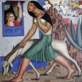 Mujer con cabra (1929), de Maruja Mallo