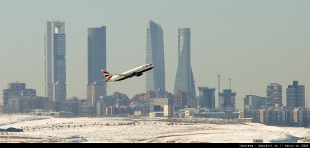 Despegue de BA desde el aeropuerto de Barajas (Madrid)
