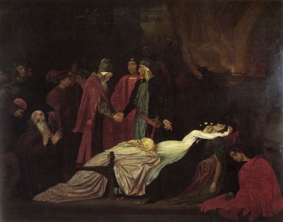 765px-Frederick_Leighton_-_The_Reconciliation_of_the_Montagues_and_Capulets_over_the_Dead_Bodies_of_Romeo_and_Juliet